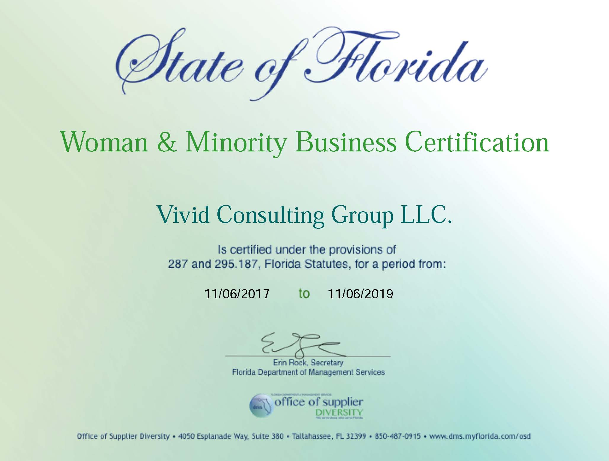 Women & Minority Business – State of FL